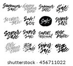 vector hand drawn collection of ... | Shutterstock .eps vector #456711022