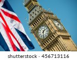 uk icons   big ben with union... | Shutterstock . vector #456713116