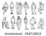 a collection of hand drawn... | Shutterstock .eps vector #456718012