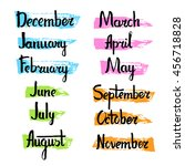 unique calendar collection of... | Shutterstock .eps vector #456718828