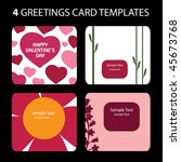 4 greeting cards  valentine's... | Shutterstock .eps vector #45673768
