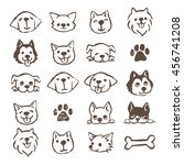 different types of dogs icon... | Shutterstock .eps vector #456741208