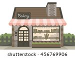 bakery shop building | Shutterstock .eps vector #456769906