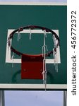 old basketball hoop | Shutterstock . vector #456772372