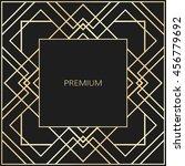 vector geometric frame in art... | Shutterstock .eps vector #456779692