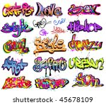 graffiti urban art. hip hop...   Shutterstock .eps vector #45678109