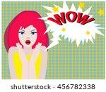 surprise woman | Shutterstock .eps vector #456782338
