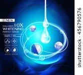collagen perfect serum and... | Shutterstock .eps vector #456790576