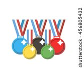 A Set Of Colorful Medals For...