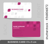 business card template for your ... | Shutterstock .eps vector #456806872
