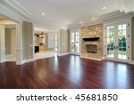 living room in new construction ... | Shutterstock . vector #45681850