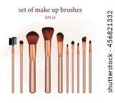 set of make up brushes.... | Shutterstock .eps vector #456821332