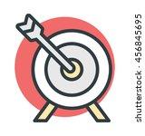 target vector icon | Shutterstock .eps vector #456845695