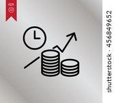 web line icon. business idea ... | Shutterstock .eps vector #456849652