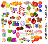 vector illustration of assorted ... | Shutterstock .eps vector #456865606