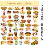 vector illustration of yummy... | Shutterstock .eps vector #456865672