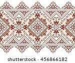 embroidered old handmade cross...   Shutterstock .eps vector #456866182