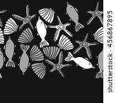 seamless  horizontal   pattern... | Shutterstock . vector #456867895