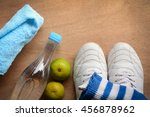 healthy fitness concept with... | Shutterstock . vector #456878962