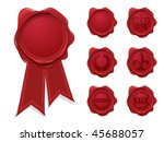 wax seal collection | Shutterstock .eps vector #45688057