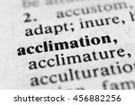 Small photo of Acclimation