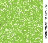 vegetable seamless pattern on a ... | Shutterstock .eps vector #456893242