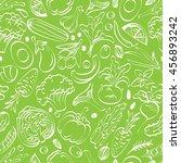 vegetable seamless pattern on a ... | Shutterstock .eps vector #456893242