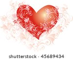valentines day background with... | Shutterstock .eps vector #45689434