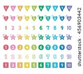 colorful numbers  hand drawn... | Shutterstock .eps vector #456903442