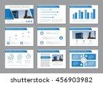 vector blue template for...   Shutterstock .eps vector #456903982