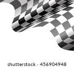 checkered flag flying on white... | Shutterstock .eps vector #456904948