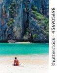 tropical paradise island  krabi ... | Shutterstock . vector #456905698