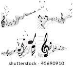vector musical notes staff...   Shutterstock .eps vector #45690910