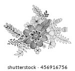 flower doodle with coloring... | Shutterstock .eps vector #456916756