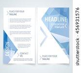 vector design template of flyer ... | Shutterstock .eps vector #456931576