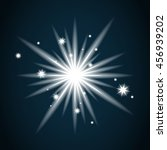 shine star with glitter and... | Shutterstock . vector #456939202