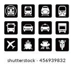 various transportation square... | Shutterstock .eps vector #456939832