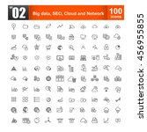 simple line icons for web... | Shutterstock .eps vector #456955855