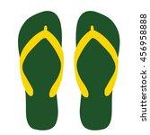 flip flops. summer. icon. vector | Shutterstock .eps vector #456958888