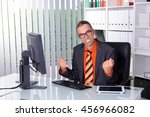 young amazed business man at... | Shutterstock . vector #456966082