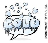 freehand drawn speech bubble... | Shutterstock . vector #456973756