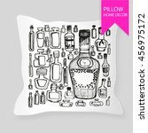 decorative pillow for interior... | Shutterstock .eps vector #456975172