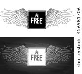be free. two variants of... | Shutterstock .eps vector #456981706