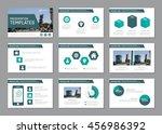 set of green template for... | Shutterstock .eps vector #456986392