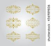wedding logo set | Shutterstock .eps vector #456989836