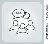 group of people icon  friends... | Shutterstock .eps vector #456993028