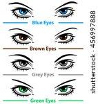 vector woman eyes. design...   Shutterstock .eps vector #456997888