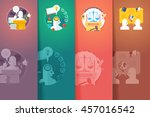 social  civil and public... | Shutterstock . vector #457016542