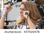 """Small photo of NEW YORK - JULY 22, 2016: Celine Dion performs on the NBC """"Today"""" show concert series on July 22, 2016, in New York City."""