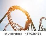 blurred roller coaster ride in... | Shutterstock . vector #457026496